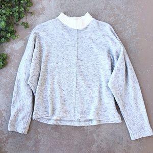 Splendid Heather Gray Turtleneck Pullover Sweater